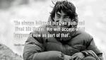 David Lama missing climber - parents' quote