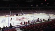 Calgary Flames practice - April 19, 2019