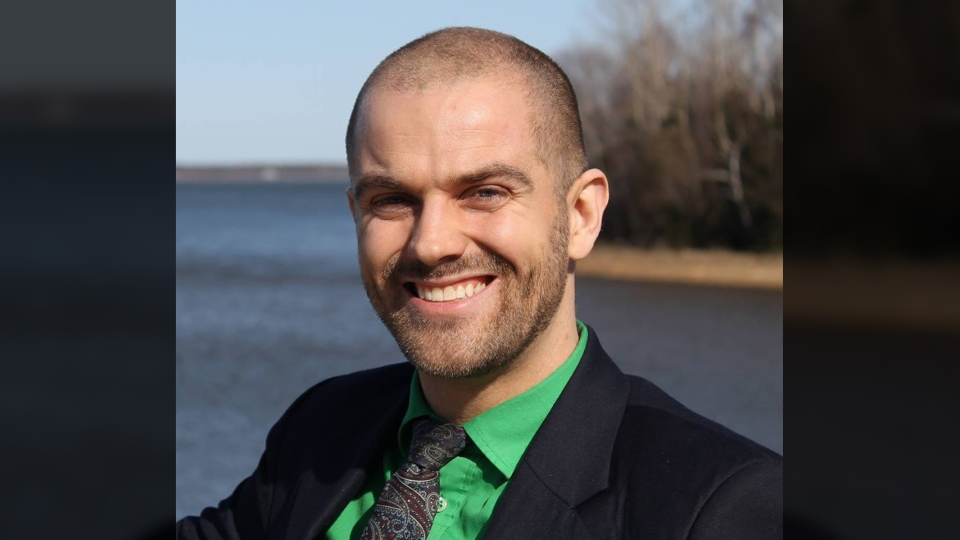 Josh Underhay, a married father of two boys, had been the Green's candidate in District 9, Charlottetown-Hillsborough Park. (Josh Underhay, Green Party of PEI / Facebook)