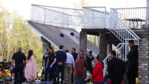 The deck collapsed at approximately 5:30 p.m. during a wedding party in Langley, B.C.