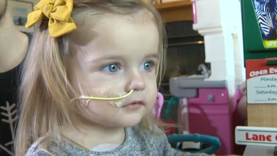 Lukah Mitchell is back at home with her family in Okotoks after she spent months in hospital waiting for a rare organ donation procedure.
