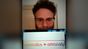 Seth Rogen voiced his support for the Cannabis Amnesty campaign in a post to his 6.7 million Instagram followers on Saturday, April 20, 2019. (Instagram)