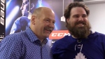 Maple Leafs legend Clark celebrates playoff succes