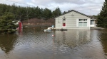 A house in Bracebridge, Ont. after heavy rain caused flooding (Aileen Doyle/CTV Barrie)