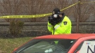 Two men hit by police cruiser responding to call