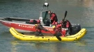 A man in his 40s was rescued from the Bow River at about 3:00 p.m.on Saturday afternoon.