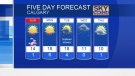 Chance of showers on Sunday. Adriana has details…