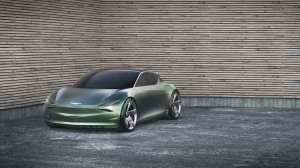 A future prospect in the ultra-expensive, ultra-environmentally friendly category is the Genesis Mint, which was shown as a concept car by Hyundai. (Genesis)