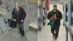 Guelph Police want to speak to these two people as they investigate the theft of more than $6,000 worth of toothbrushes. (Guelph Police)