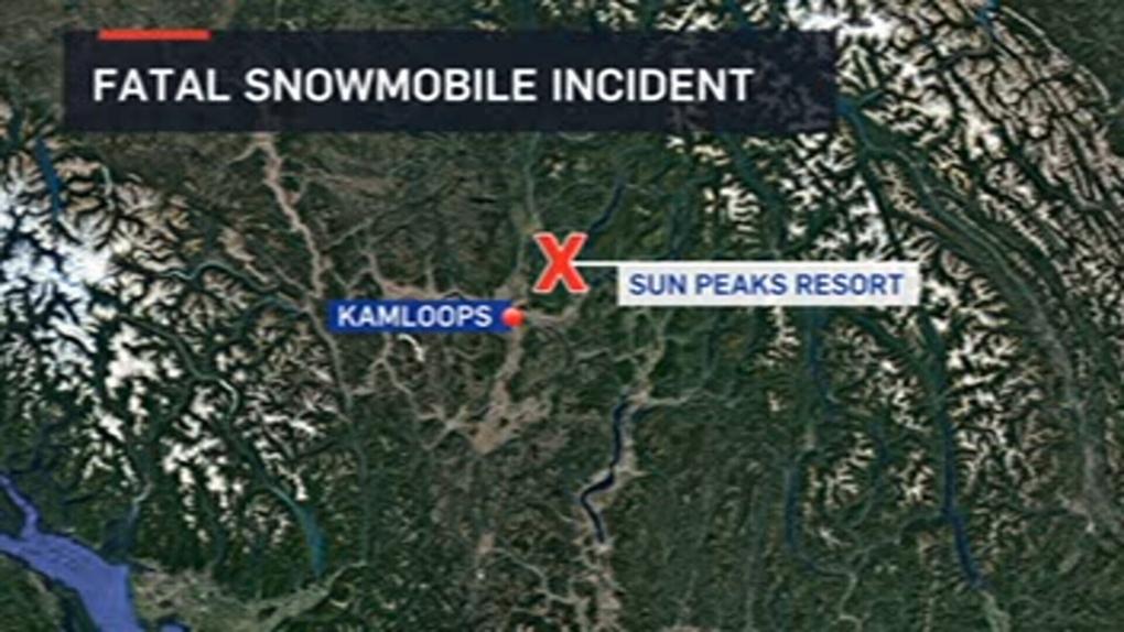 Man killed in snowmobile accident at Sun Peaks Resort