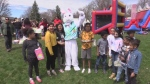 Easter Bunny at northeast London community event