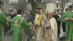 A procession marched through the streets of Halifax to celebrate Palm Sunday.
