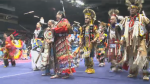 Dancers take part in the 41st annual First Nations University of Canada Spring Celebration Powwow.