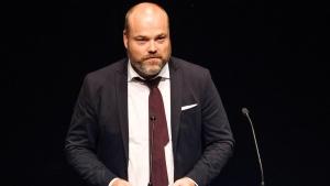 In this Aug. 21, 2017 file photo, Bestseller CEO Anders Holch Povlsen speaks during an event in Aarhus, Denmark. (Bo Amstrup/Ritzau Scanpix via AP, File)