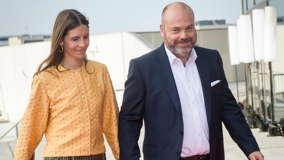 In this May 27, 2018 file photo, Bestseller CEO Anders Holch Povlsen and his wife Anne Holch Povlsen arrive for the 50th birthday celebrations for Denmark's Crown Prince Frederik in Royal Arena in Copenhagen, Denmark. (Olufson Jonas/Ritzau Scanpix via AP, File)