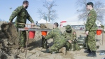 Canadian troops deployed to flood zones