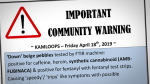 Zombie drug warning
