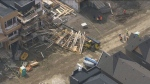 Toronto police say that scaffolding collapsed at a construction site in Etobicoke on April 22, 2019.