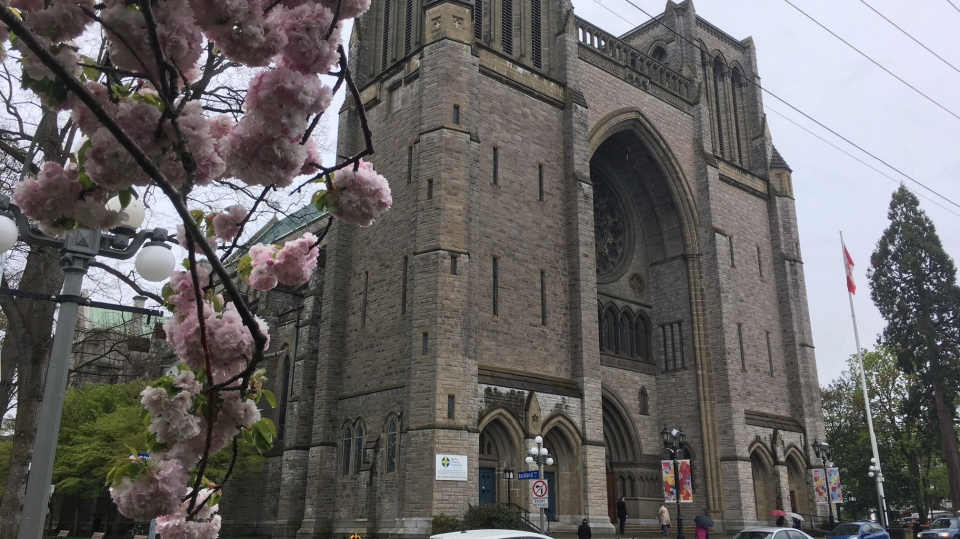 Christ Church Cathedral in Victoria on April 22, 2019. (CTV Vancouver Island)