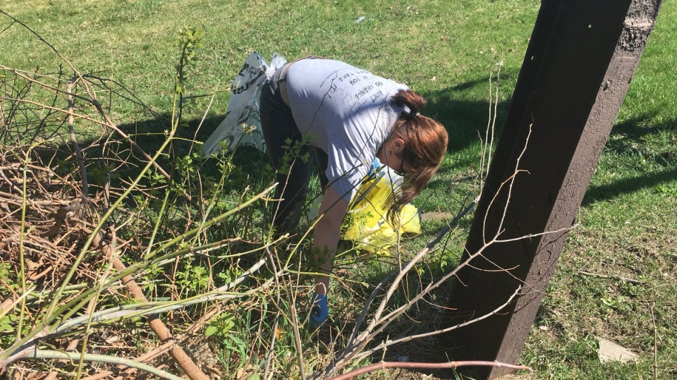 Cleanup for Earth Day in Windsor, Ont., on Monday, April 22, 2019. (Bob Bellacicco / CTV Windsor)