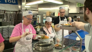 More than 2500 meals were served in 5 1/2 hours.