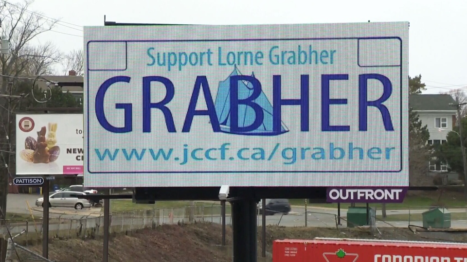 The lawyers for Lorne Grabher have installed two billboards of their client's proposed licence plate as they head to Nova Scotia's top court late this week to fight against the ban.