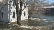Homes in the Village of Lanark are dealing with flooding as the Clyde River burst it's banks.