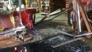 The storefront of Reddi Mart in Kerrobert, after a robbery on Friday. (Courtesy: Kerrobert Reddi Mart/Facebook)