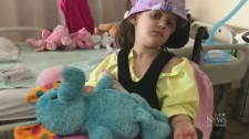 Girl, 6, in hospital recovering from major stroke