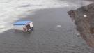 Ice Hut left on Kelly Lake