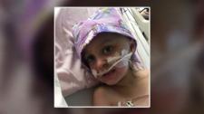 Ava McIntyre in hospital