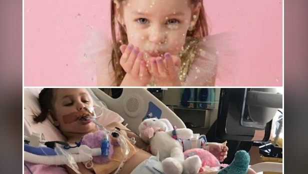 'She flatlined right in front of me': Girl, 6, recovering from stroke