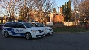 A child is in critical condition after falling into an in-ground pool in the West Island on Mon., April 22, 2019. (Photo: Kelly Greig/CTV Montreal)