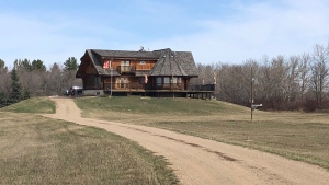 The Buddhist meditation centre south of Saskatoon. (Francois Biber/CTV Saskatoon)