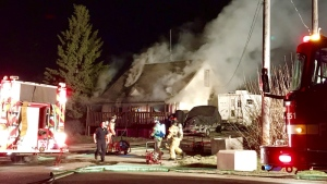 Firefighters responded to a house fire in northwest Edmonton Monday night.