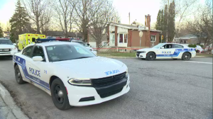 Police respond to a call from a house on Saint-Croix St. in Pierrefonds after a 10-year-old child fell into an in-ground pool while playing in the backyard with a friend. He was later pronounced dead in hospital. (CTV Montreal)