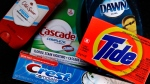 In this June 15, 2018, file photo a variety of Procter & Gamble products rest on a counter in East Derry, N.H. Procter & Gamble Co. reports financial results Wednesday, Jan. 23, 2019. (AP Photo/Charles Krupa, File)