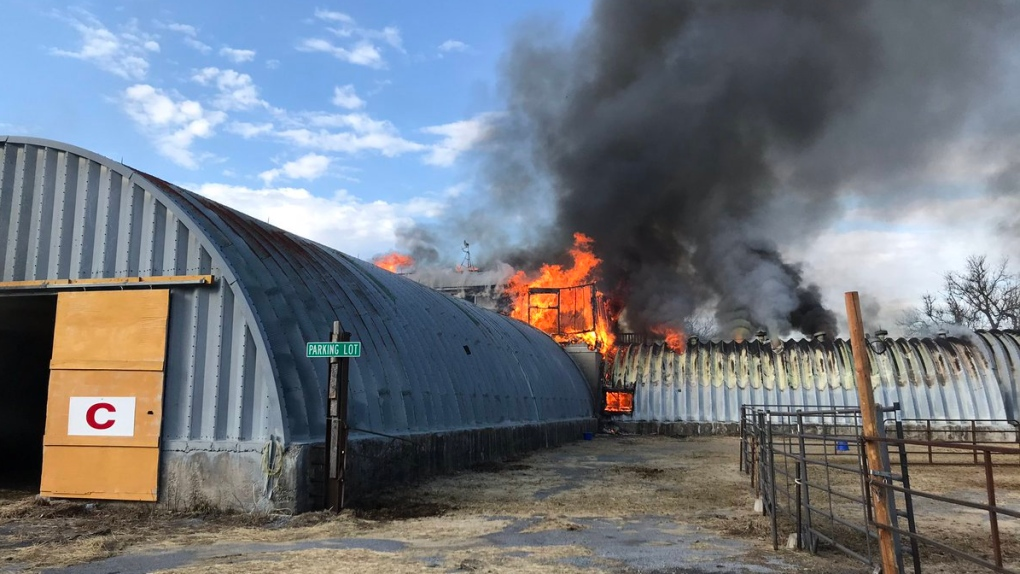 No injuries reported in Franktown Rd. farm fire