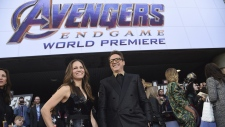 At the L.A. premiere of 'Avengers: Endgame'