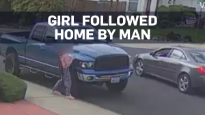 Caught on cam: Girl evades man following her