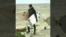Justin Trudeau surfing in Tofino