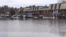 Part of downtown Huntsville is underwater