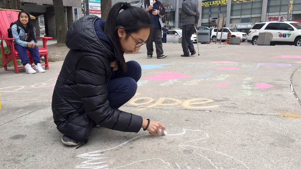 Torontonians are remembered the lives lost and impacted by the North York van attack one-year since the tragedy. (Danny Pinto/CTV News Toronto)