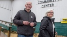 Peter Bevan-Baker, leader of the Green party, and his wife Ann head from the voting place after voting in the Prince Edward Island provincial election in Bonshaw, P.E.I. on Tuesday, April 23, 2019. THE CANADIAN PRESS/Andrew Vaughan
