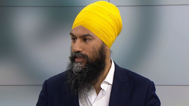 Federal NDP Leader Jagmeet Singh on CTV's Your Morning.