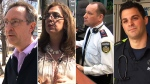 From left: Good Samaritans Rob Little and Roula Massin, and first responders John Shirley and Christopher Rotolo (CTV News)