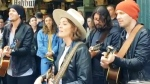 Superstar rockers busk at Seattle hotspot
