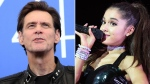 Jim Carrey heaped praise on Ariana Grande, after he noticed the 'Thank U, Next' singer shared his quote about depression. (Claudio Onorati/ANSA via AP and  AP / Scott Roth)