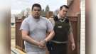 Therae Racette-Beaulieu, 19, is pictured outside the court in Minnedosa on Tuesday, April 23, 2019 (Josh Crabb/CTV News).