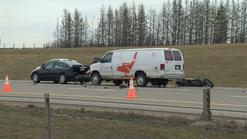 Motorcycle passenger involved in crash on Anthony Henday succumbs to injuries